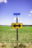 Directional arrow road sign Royalty Free Stock Images