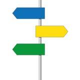 Directional arrow road sign Stock Photos