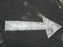 Directional arrow on the road royalty free stock image