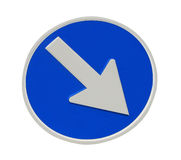 Directional arrow sign Royalty Free Stock Photo