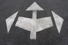 Directional arrow signs Royalty Free Stock Image