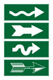 Directional arrows Stock Images