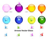 Directional arrows glass Stock Photos