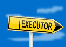 Directional board with indicator executor Royalty Free Stock Photo