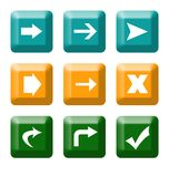 Directional button icons Stock Photo