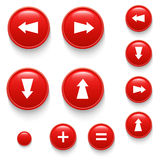 Directional buttons red Royalty Free Stock Photography