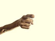 Directional finger Stock Photo