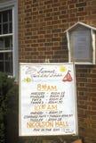 Directional handwritten sign in Falls Church, Fairfax county, VA Royalty Free Stock Photography