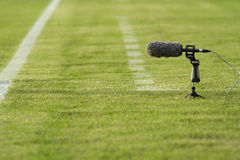 Directional microphone Stock Images