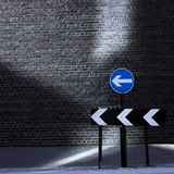 Directional one way Road sign Stock Photography