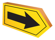 Directional sign. Cartoon illustration of a directional sign Royalty Free Stock Photos