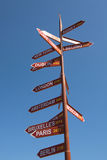 Directional sign Stock Image