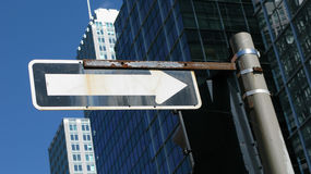 Directional sign in city Royalty Free Stock Photography