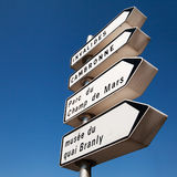 Directional sign Stock Images