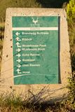 Directional sign for trails at Golden Gate Stock Photo