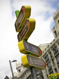 Directional Signals Madrid Stock Photography