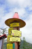 Directional Signpost for walkers in Tatra Mountains Royalty Free Stock Photography