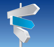 Directional Signs. In Business Colors Stock Image