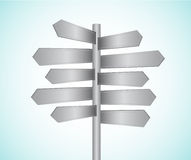 Directional signs. Metal directional signs  illustration Royalty Free Stock Photo
