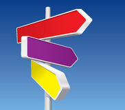 Directional Signs. (vector + XXL jpeg image Stock Image