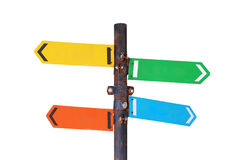 Directional signs. Isolated on white background Stock Photography