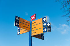 Directional signs Stock Images
