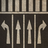 Directional Street Arrows Pedestrian Crosswalk Stock Images