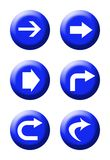Directional traffic buttons Royalty Free Stock Images