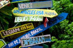 Directional wooden signs Stock Image