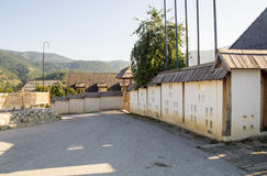 Directions à Kusturica Drvengrad en Serbie Photos libres de droits