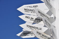 Directions. A lot of signs for different directions Royalty Free Stock Photography