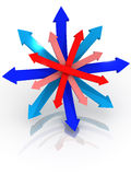 Directions. 3d Very beautiful three-dimensional illustration Stock Photos