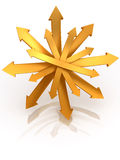 Directions. 3d Very beautiful three-dimensional illustration Stock Images