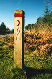 Directions. Signpost showing walk path Stock Photos
