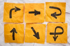 Directions embrouillantes Photos libres de droits