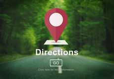 Directions Exploration Magnet Map North South Concept.  Stock Image