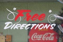Directions gratuites, Coca-Cola de boissons Photographie stock libre de droits