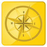 Directions icon. Glossy illustration of a square icon for directions, maps, etc royalty free illustration