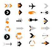 Directions Icons  Royalty Free Stock Image