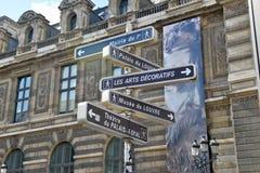 Directions in Paris Stock Image