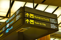 Directions for passengers at international airport Royalty Free Stock Image