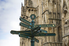 York directions post Stock Images