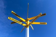 Directions road signpost Royalty Free Stock Photography