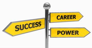 directions of success, power and career royalty free stock images