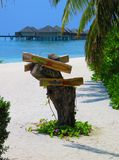 Directions sur le sable photographie stock libre de droits