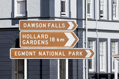 Directions to Egmont National Park Stock Photos