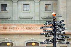 Directions to landmarks Stock Photography