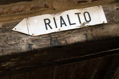 Directions to Rialto bridge Stock Photos