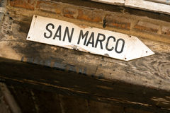 Directions to San Marco Square royalty free stock photos