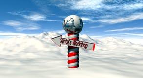 Directions to Santa's Workshop vector illustration